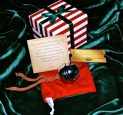 """""""The Polar Express Sleigh Bell Gift Set"""" will delight adults and children of all ages. It is the exact replica of """"The First Gift of Christmas"""" from Santa in beloved holiday classic """"The Polar Express"""" story and represents the Universal Symbol to BELIEVE!"""