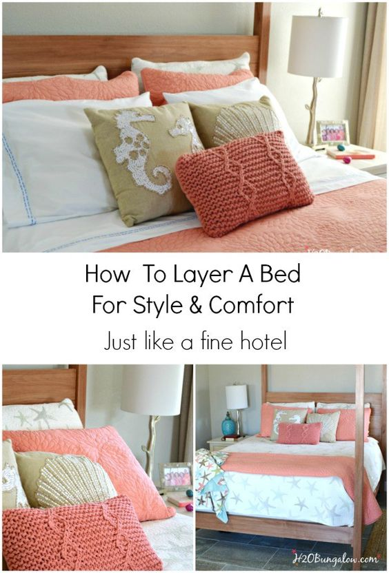 how to layer a bed for style and comfort style tutorials and tips. Black Bedroom Furniture Sets. Home Design Ideas