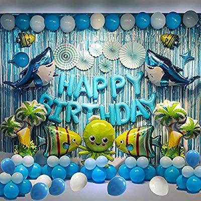 Amazon Com Birthday Party Backdrop Decorations Marine Animals