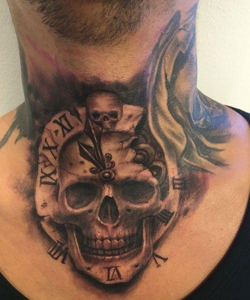 101 Best Neck Tattoos For Men Cool Designs Ideas 2019 Guide In 2020 Neck Tattoo For Guys Front Neck Tattoo Best Neck Tattoos