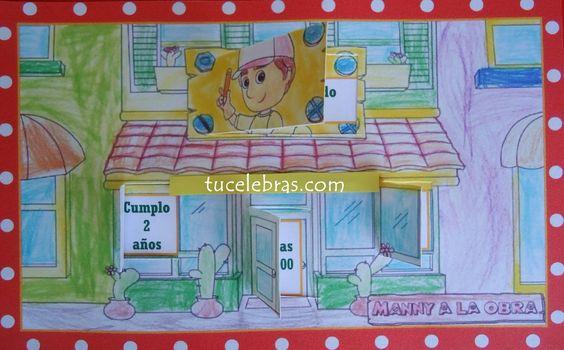 Invitacion de cumpleaños manny manitas
