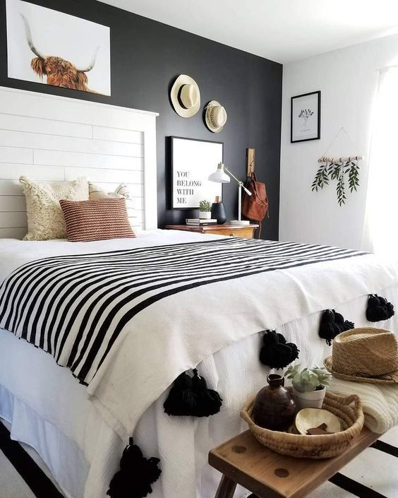 Black And White Bedroom Set Black And White Room Decor Diy Pinterest Black And White In 2020 Home Decor Bedroom Bedroom Decor Bedroom Design
