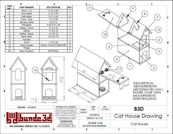 Cat house plans designs  House design plans
