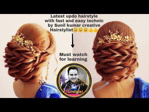 Easy Wedding Hairstyle 2018 Wedding Bun Hairstyle Latest Low Updo Hairstyle 2018 Judha Hairstyle Low Updo Hairstyles Hair Styles Simple Wedding Hairstyles