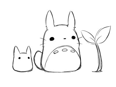 Totoro so easy to draw this one!