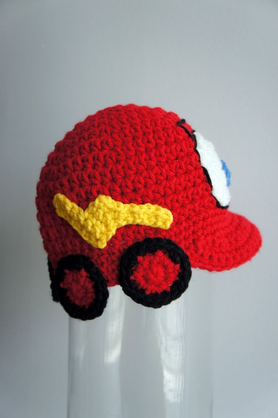 Lightning McQueen hat Cars hat Race car hat by stylishbabyhats. $19.99, via Etsy.
