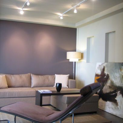 Deep Eggplant Purple Wall Paint Design, Pictures, Remodel, Decor and Ideas/ Mauve living room walls=):