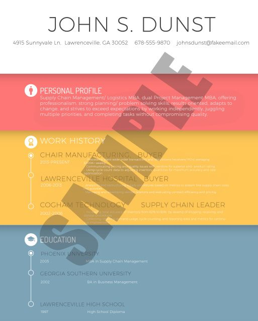 Creative Resume to stand out from other typical, boring resumes - resume that stands out