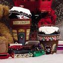 Weihnachtsstadt aus Tontöpfen