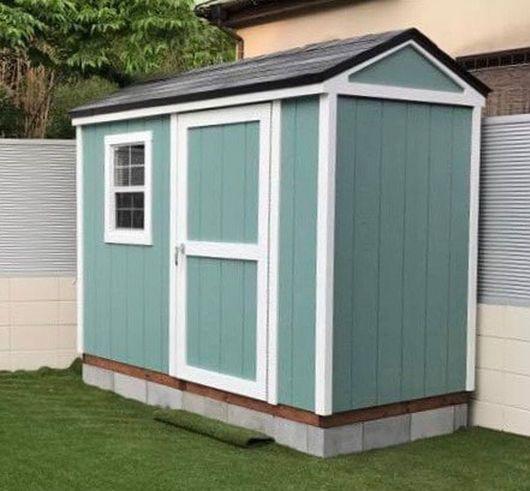 小柄なサイズの物置小屋のサンタモニカ グリーンベル 小屋 サンタモニカ 物置