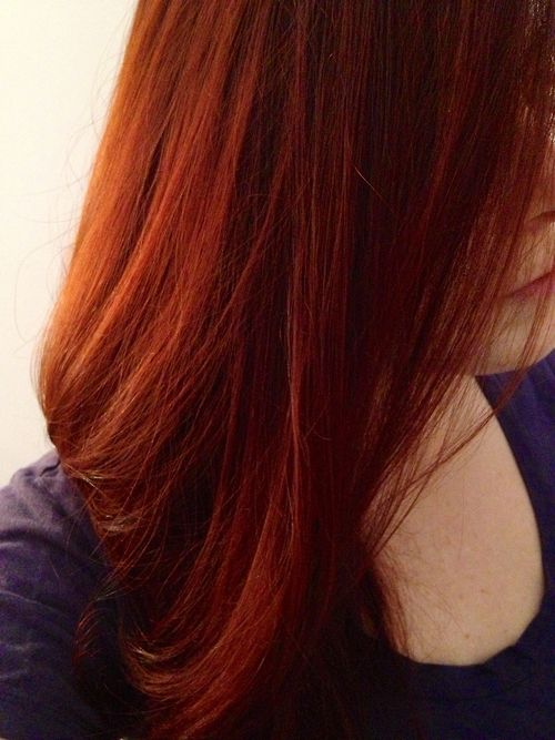 Turquoise locks are going; getting auburn/cinnamon locks in its place