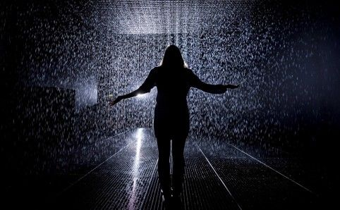 * Random International, Rain Room installation image .  Barbican, London. Ends 3 March 2013