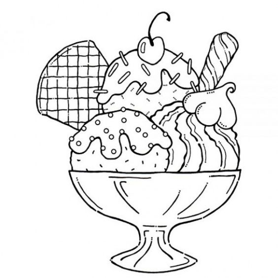 yummy coloring pages - coloriage glace and coloration on pinterest