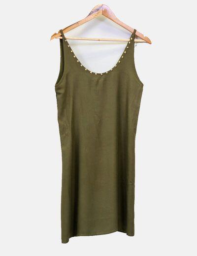 Vestido tachuelas doradas Zara