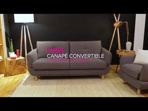 Canape Convertible Design Scandinave Finn Canape Tissu De La