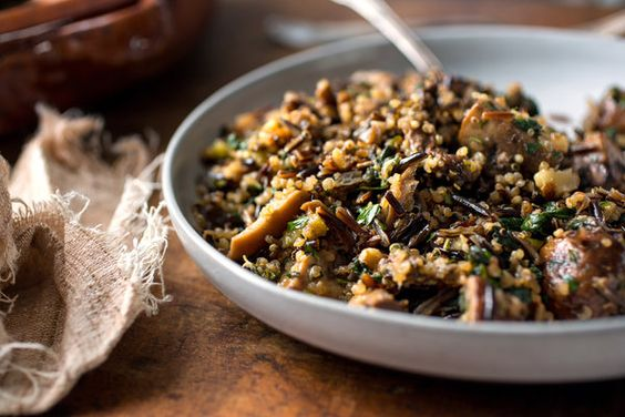 Call this savory mix of wild rice, quinoa, mushrooms, walnuts and ...
