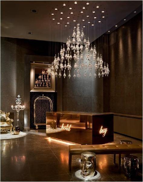 Wall street philippe starck and new york city on pinterest - New york city interior designers ...