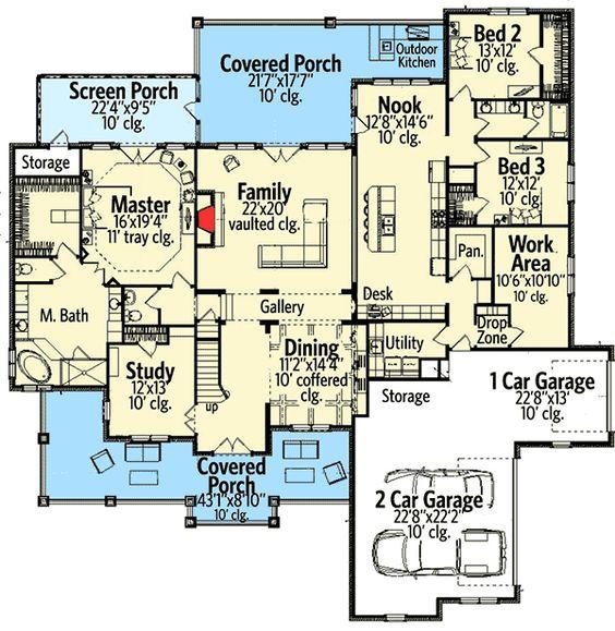 Plan 86213HH 5 Bed Stone And Shingle Farmhouse