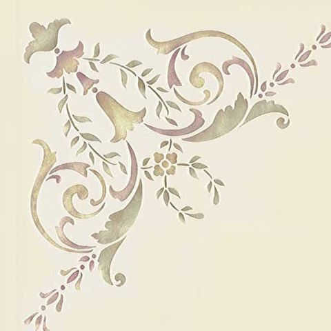 Stencils | Ceiling Stencil 19th Century Corner | Royal Design Studio