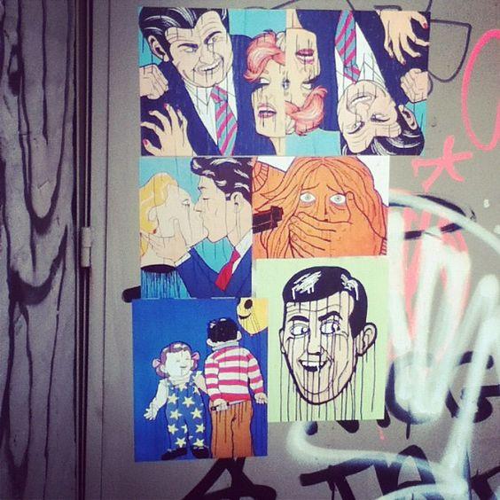 """""""I hate women. #graff #brooklyn #streetart #graffiti"""""""