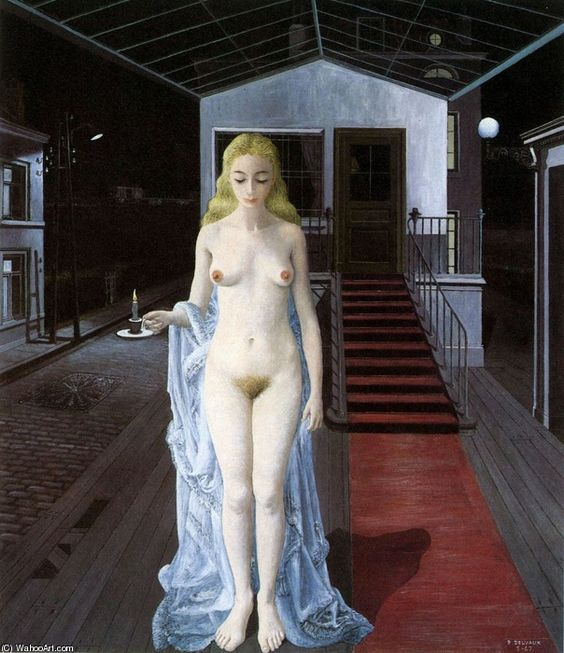 Paul Delvaux - Chrysis, (1967) - - - Foundation Paul Delvaux +++ (002)