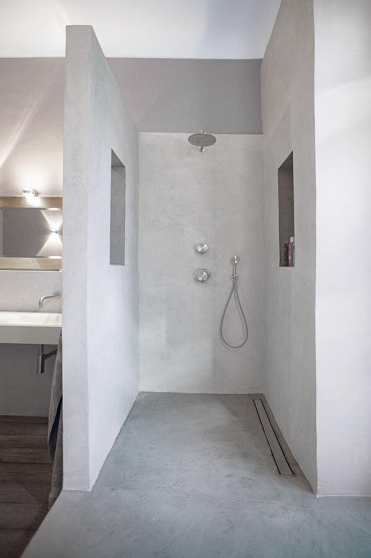 Beton Cire Naturhaus Eugene Anny Badezimmer Kleines Wc Zimmer Beton Badezimmer