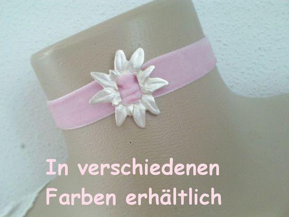"""""""Samt & Edelweiss"""" Halsband 1-08 von ikimmis-passion auf DaWanda.com"""