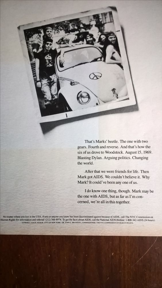 1989 AIDS ad targeting towards the Baby Boomers generation- Rolling Stone, November 16, 1989