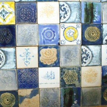 na ścianę-dekory miszmasz w błękitach