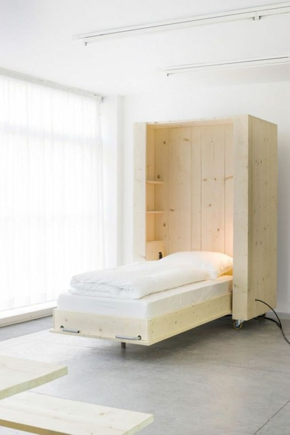 wandgestaltung wei gardinen schrankbett selber bauen. Black Bedroom Furniture Sets. Home Design Ideas