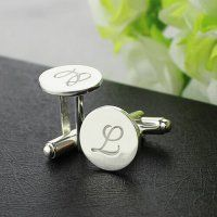 Personalized Initials Disc Cufflinks,men Cufflinks