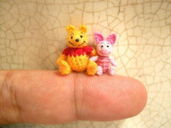 Mini Winnie Pooh und Ferkel Stofftier