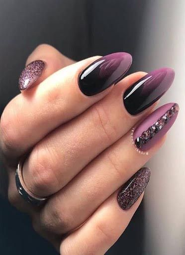 40 Best Nail Designs Of 2020 In 2020 Purple Nails Studded Nails Fall Nail Art Designs