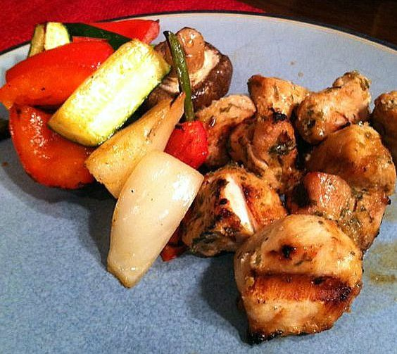 Asian chicken, Chicken skewers and Skewers on Pinterest