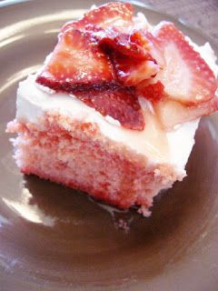 The Foodie RD: Makeover Monday: Skinny Strawberry Poke Cake