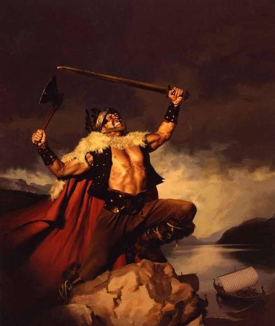 (2) Comic Book Art Of Conan The Barbarian