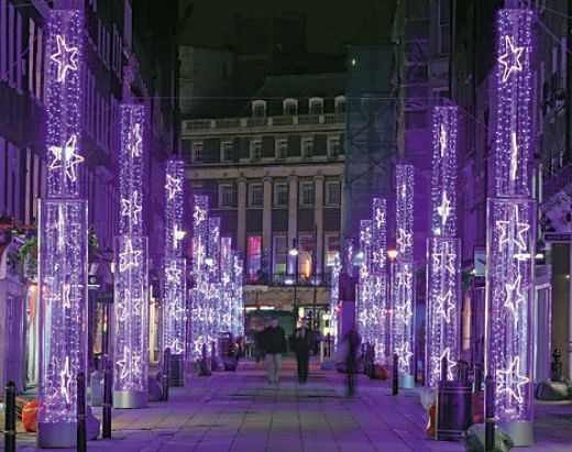 Purple Christmas lights are a fantastic alternative to other lights, and  really give off a