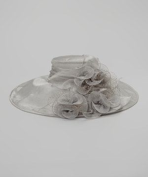 Another great find on #zulily! Silver Mesh Flower Sunhat by Jeanne Simmons Accessories #zulilyfinds