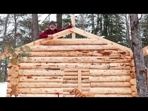 28 Build A Log Cabin Alone In The Frozen North With Hand Tools Cedar Sauna Build Ep 14 Youtube Log Cabin Floor Plans Cabin Floor Plans Loft Floor Plans