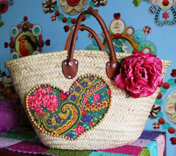 Straw Bag by Aline in Wonderland www.facebook.com/...: