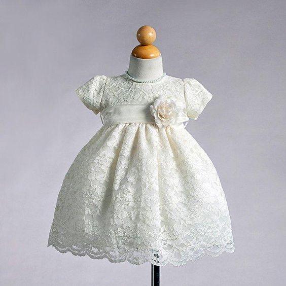 Ivory lace infant flower girl dresses $45