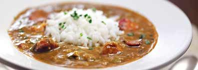 This is a chicken and Andouille Gumbo recipe from Raleys.  It's delicious!