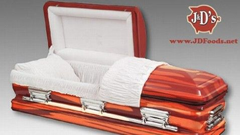 A bacon coffin. Fitting for eating large amounts of bacon.