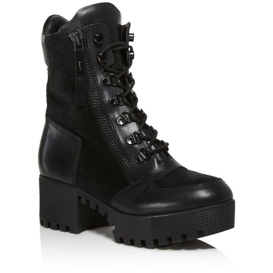 Kendall   Kylie Phoenix Combat Booties ($210) ❤ liked on Polyvore ...
