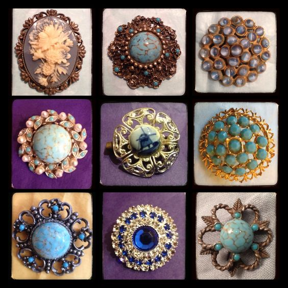 Blue brooch https://www.facebook.com/pages/The-Jewellery-Cloud/160517894095561