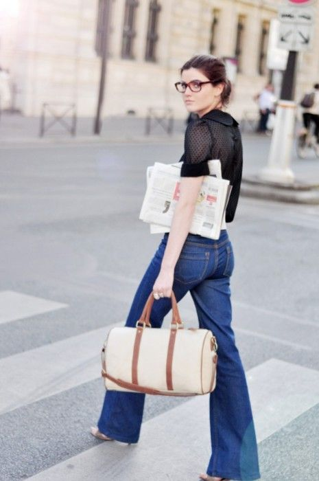 One of our favorite brands Les Composantes new handbag collection reminds of Sofia Coppola for Louis Vuitton! We love them paired with flair jeans. So chic.