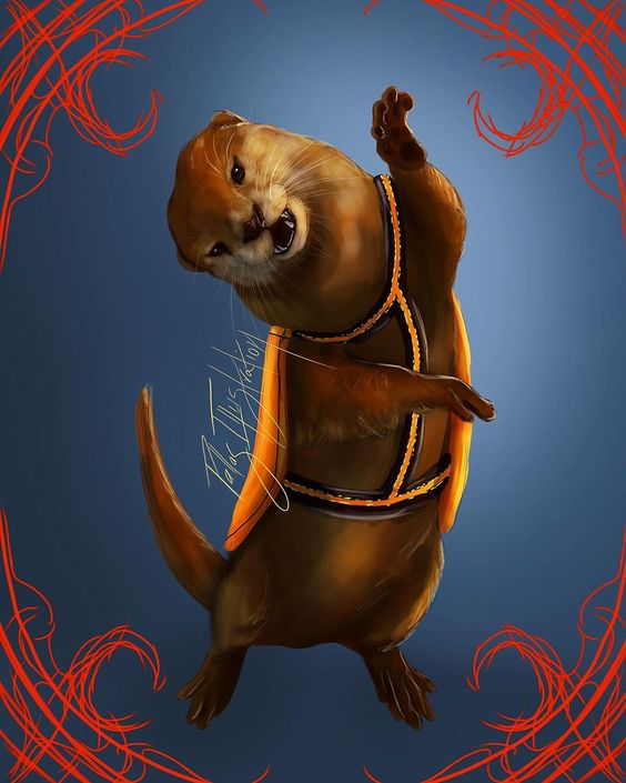 "PallasIllustration on Instagram: ""Behold: The Crescent City otter! I don't typically draw animals here, but as soon as I read about these guys I knew I would be drawing…"""