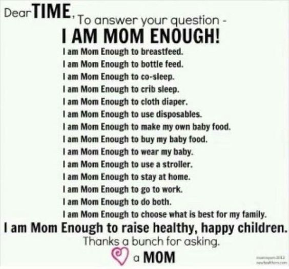 """YES!! Perfect response to TIME's Question, """"Are you mom enough?"""""""