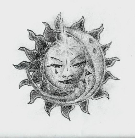 Sun/moon Sketch In My Drawings By