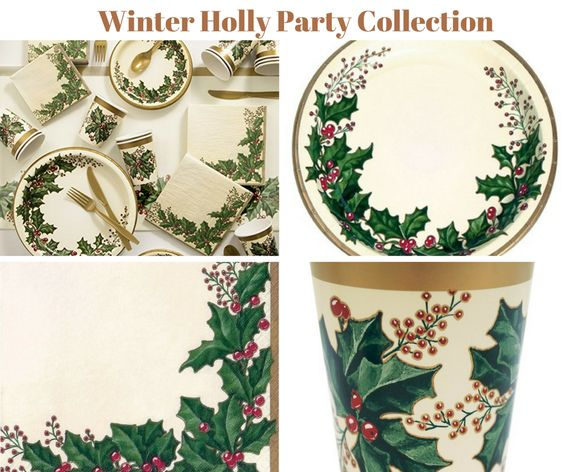Winter Holly Party Collection
